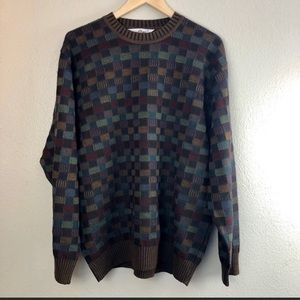 Dalmine Wool Vintage Multi-Colored Sweater XL